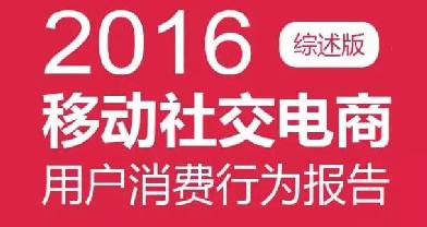 2016移动社交电商用户消费行为报告